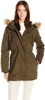 Steve Madden Women's Cotton Anorak with Zip Pockets