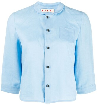 Marni Rounded Collar Cropped Blouse