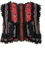 Anna Sui Stripe Jacquard Vest