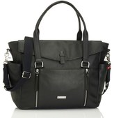 Storksak Infant 'Emma' Leather Diaper Bag - Black