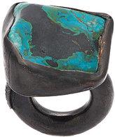 Monies chrysocolla copper ring