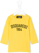 DSQUARED2 buttoned shoulder logo T-shirt - kids - Cotton - 6 mth
