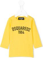 DSQUARED2 buttoned shoulder logo T-shirt
