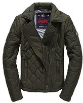 Superdry Women's Cary Quilted Biker Jacket,XS