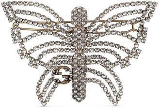 Gucci Butterfly hair slide with crystals