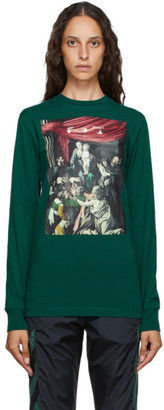 Off-White Green Caravaggio Painting T-Shirt