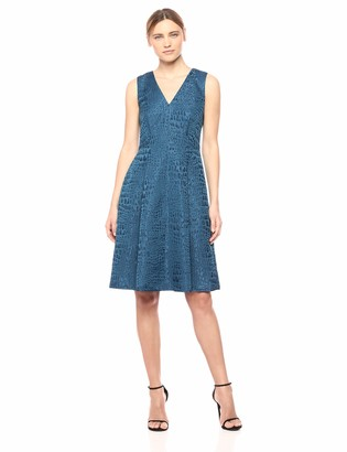 Anne Klein Women's Sleeveless Vneck FIT and Flare Dress