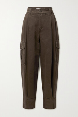 See By Chloe - Pleated High-rise Tapered Jeans - Brown
