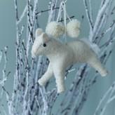 Graham and Green White Horse Felt Decoration