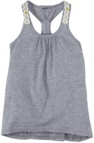 LAmade Kids Knotted Tank (Toddler/Kid) - Heather Grey-6X