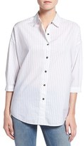 MiH Jeans Women's 'Poets' Pinstripe Cotton Shirt