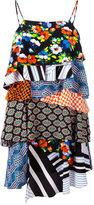 MSGM patch-effect frilled dress