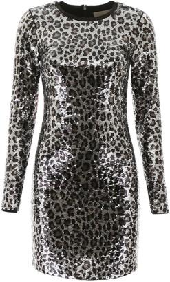 MICHAEL Michael Kors Animalier Sequins Mini Dress