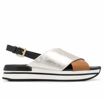 Hogan Black H222 Sandals