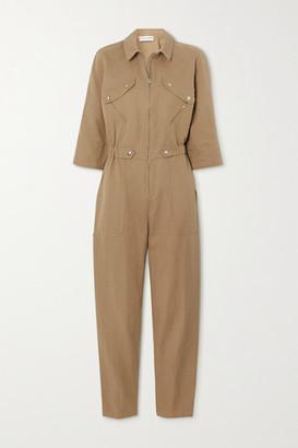 Apiece Apart Amelia Linen And Cotton-blend Jumpsuit - Camel