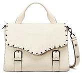 Rebecca Minkoff Biker Leather Doctor Bag - White
