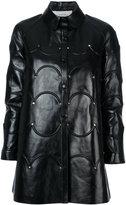 Valentino Rockstud scalloped coat - women - Lamb Skin - 40