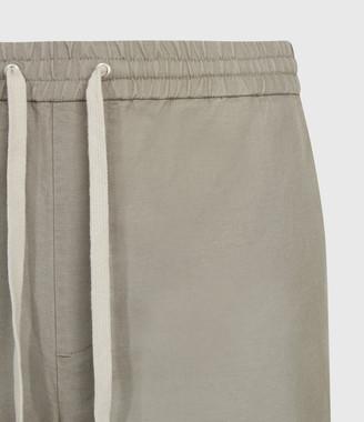 AllSaints Luckett Linen Blend Cropped Slim Trousers
