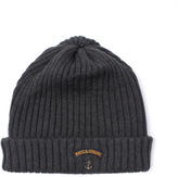 Paul & Shark Charcoal Grey Ribbed Knit Beanie