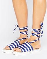 Clover Canyon Stripe Slide Sandals