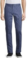 Original Penguin Printed Straight-Leg Pants, Indigo