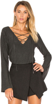 Central Park West Cambridge Lace Up Sweater