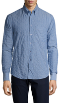 Naked & Famous Denim Cotton Striped Regular Sportshirt