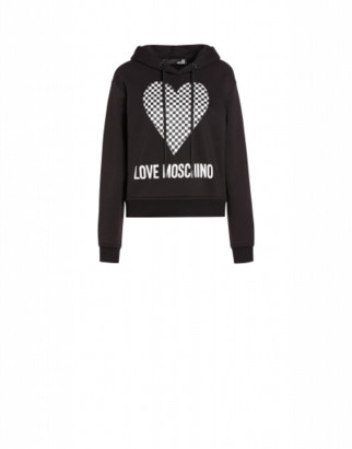 Love Moschino Heart Hoodie Woman Black Size 38 It - (4 Us)