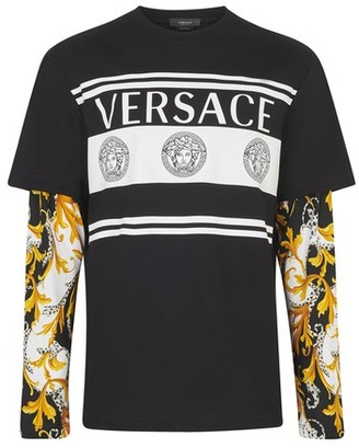 Versace Medusa and barocco tromple l'il long-sleeve t-shirt
