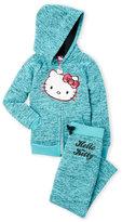 Hello Kitty Girls 4-6x) Two-Piece Marled Fleece Sweatsuit