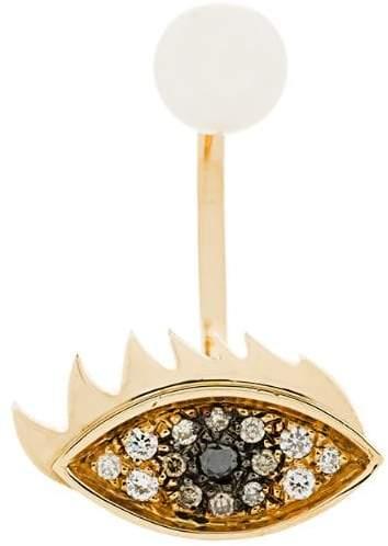 Delfina Delettrez 18kt yellow gold Eyes on Me piercing earring
