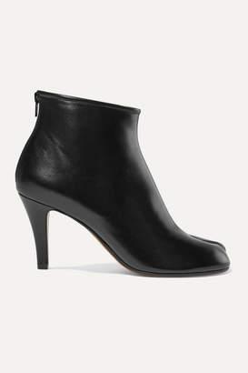 Maison Margiela Split-toe Leather Ankle Boots - Black