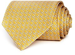 Salvatore Ferragamo Overlapping Gancini Silk Classic Tie