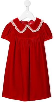 Bonpoint Peter Pan-collar velvet dress