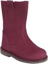 John Lewis & Partners Children's Isobel Nubuck Leather Boots, Pink