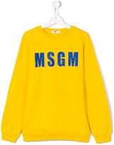 MSGM logo print sweatshirt - kids - Cotton - 14 yrs