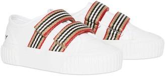 Burberry stripe detail sneakers