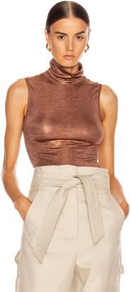 Alix Bevy Metallic Bodysuit in Sandstone | FWRD