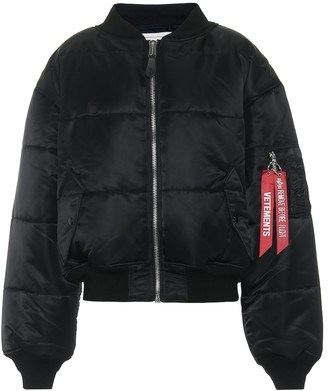 Vetements Reversible cropped bomber jacket