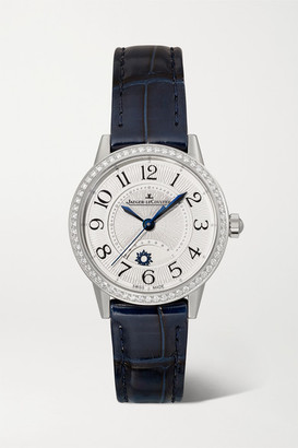 Jaeger-LeCoultre Jaeger Lecoultre Rendez-vous Night & Day 29mm Small Stainless Steel, Alligator And Diamond Watch - Silver