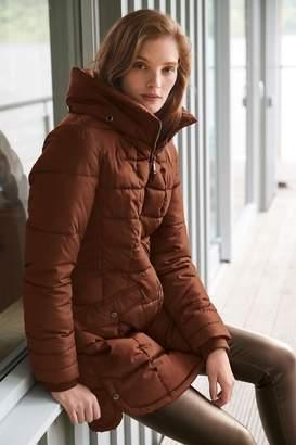 Next Womens Ginger Padded Coat - Brown