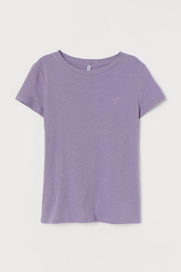 H&M Jersey T-shirt - Purple