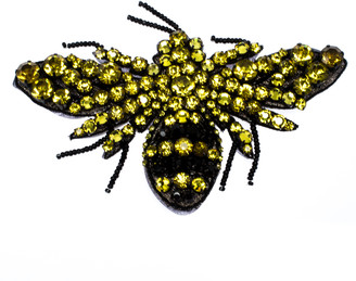 Gucci Yellow Crystal Bead Embellished Bumble Bee Motif Brooch