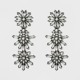 SUGARFIX by BaubleBar Crystal Floral Drop Earrings - Clear