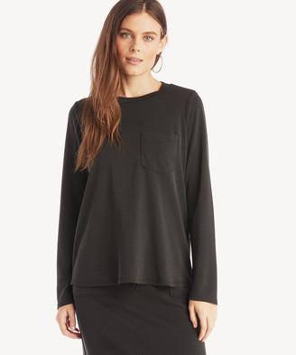 Sole Society The Good Jane Women's Franco Long Sleeve Top In Color: Black Size XS From