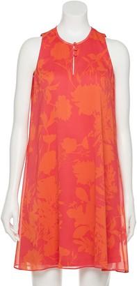 Chaps Petite Floral Trapeze Dress