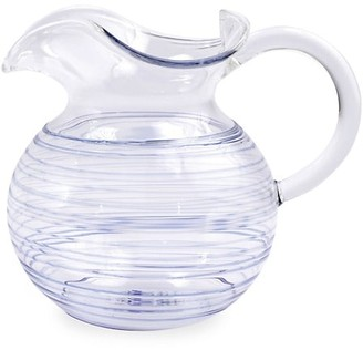 Vietri Swirl Pyrex Glass Three-Spout Pitcher