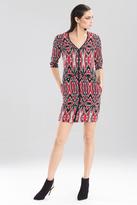 Josie Natori Printed Abstract Kilim Dress