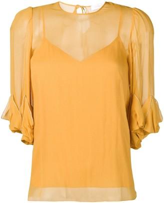 See by Chloe draped detail sheer blouse