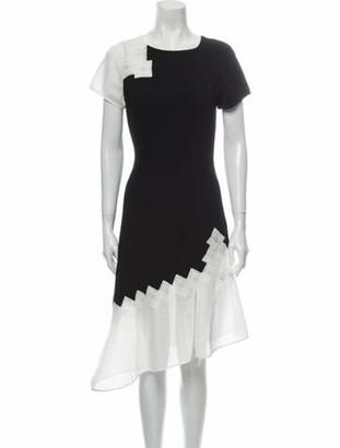 Jonathan Simkhai Colorblock Pattern Knee-Length Dress Black